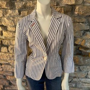 CABI ENGINEER STRIPED BLAZER Size 4